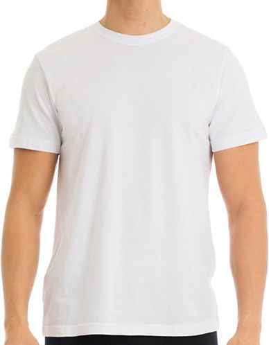 Joe Boxer Four-Pack Crew Neck Cotton T-Shirts-WHITE-Medium