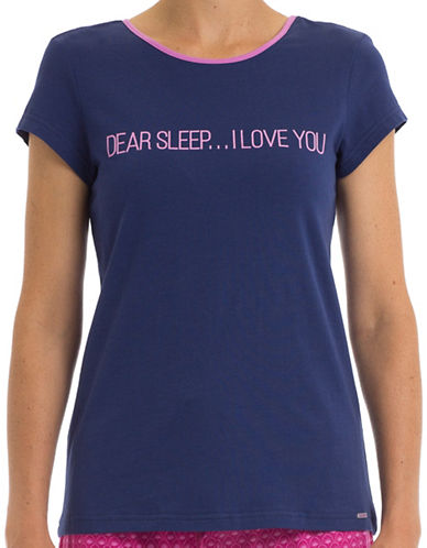 Joe Boxer Dear Sleep T-Shirt-BLUE-Large