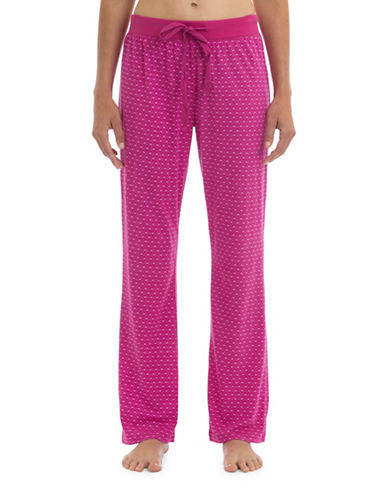 Joe Boxer Polka Dot Knit Pants-PINK-X-Small