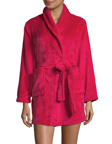 Joe Boxer Open Front Fleece Robe-RED-X-Large