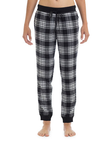 Joe Boxer Cotton Flannel Pants-BLACK-Small