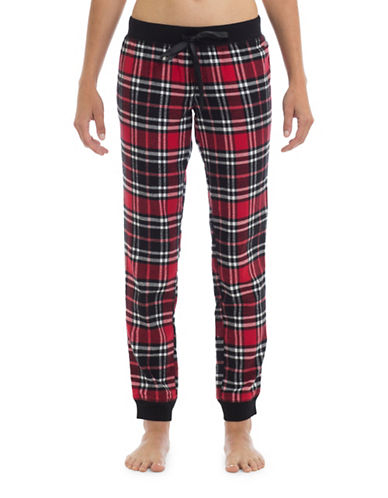 Joe Boxer Cotton Flannel Pants-RED-X-Small