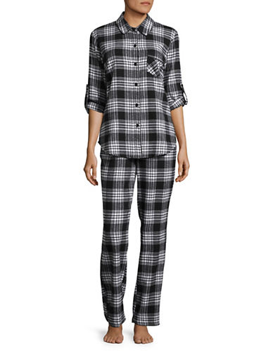 Joe Boxer Flannel Cotton Pyjama Set-BLACK-Small