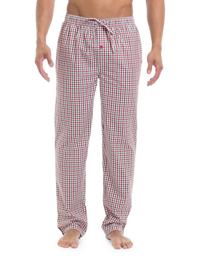 Ben Sherman Poplin Cotton Lounge Pants-WHITE-X-Large