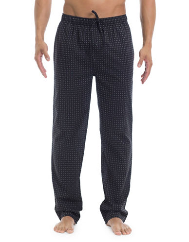 Ben Sherman Poplin Cotton Lounge Pants-MULTI-COLOURED-X-Large