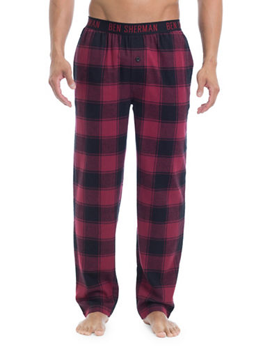 Ben Sherman Flannel Cotton Lounge Pants-MULTI-COLOURED-X-Large