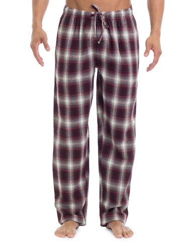 1670 Plaid Flannel Plaid Pyjama Pants-BROWN-Large