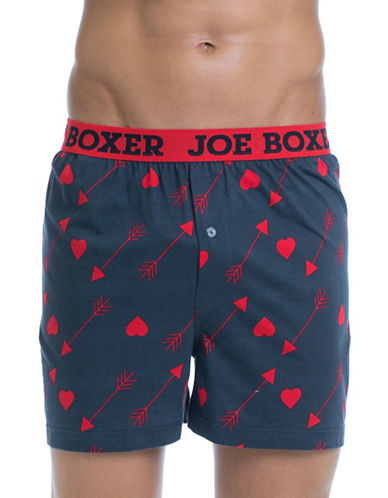 Joe Boxer Arrow Heart Cotton Boxer Shorts-MULTI-COLOURED-X-Large