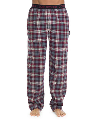 Joe Boxer Cotton Flannel Pyjama Pants-RED-X-Large