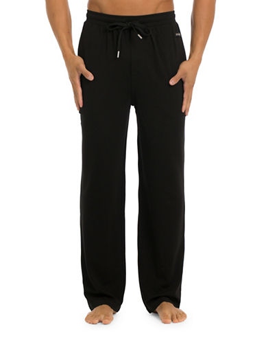Joe Boxer Modern Straight Pants-BLACK-X-Large