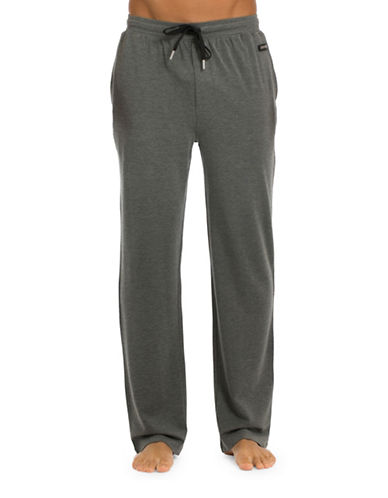 Joe Boxer Modern Straight Pants-GREY-Small