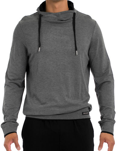 Joe Boxer Lounge Pullover Hoodie-GREY-Small
