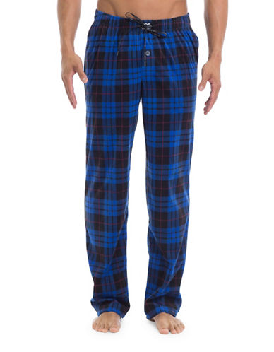 Joe Boxer Plaid Straight Pants-BLUE-Large