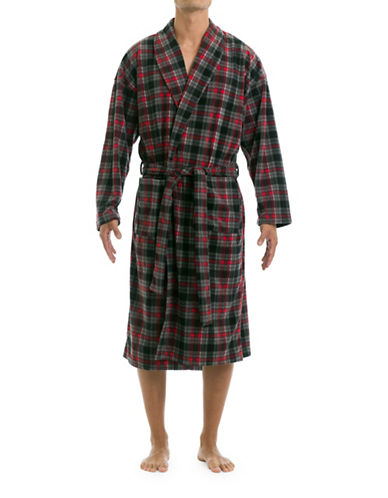 Joe Boxer Microfleece Robe-RED-Small/Medium