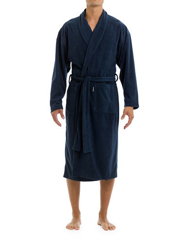 Joe Boxer Microfleece Robe-NAVY-Large/X-Large