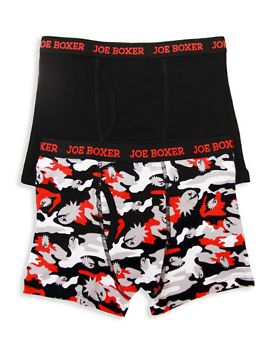 Joe Boxer Two-Pack Logo Boxer Briefs-ASSORTED-X-Large