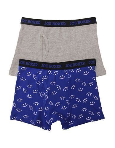 Joe Boxer Two-Pack Smileys Boxer Briefs-ASSORTED-X-Large
