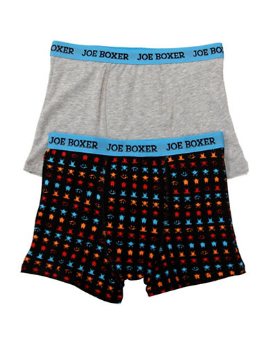 Joe Boxer Two-Pack Logo Trunks-ASSORTED-Small