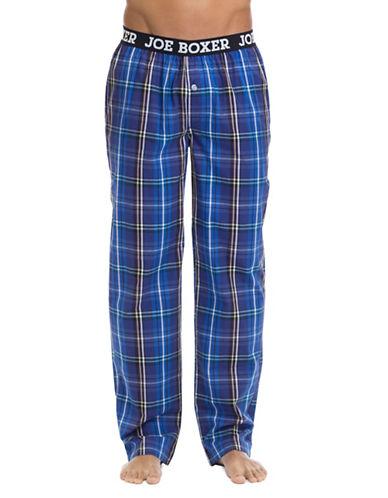 Joe Boxer Printed Cotton Pants-BLUE-Large 90002577_BLUE_Large