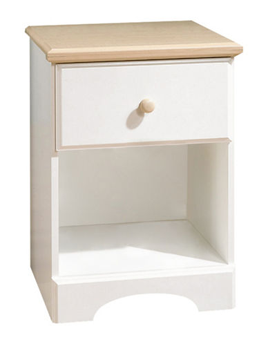 South Shore Summertime One-Drawer Nightstand-PURE WHITE-One Size