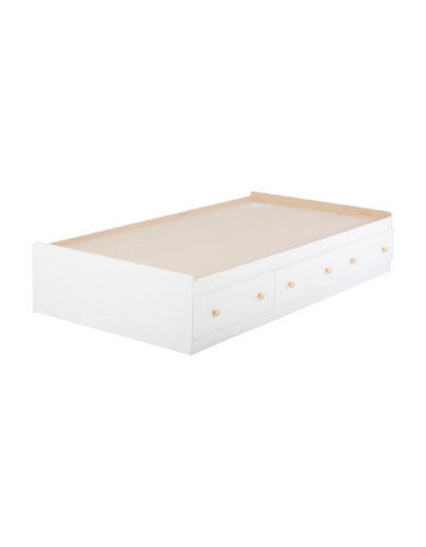 South Shore Summertime Twin Mates Bed with Three Drawers-PURE WHITE-Twin