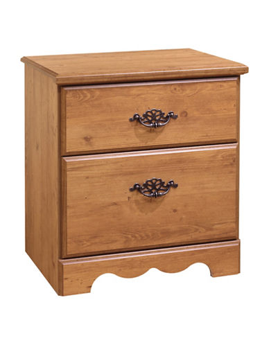 South Shore Prairie Two-Drawer Nightstand-COUNTRY PINE-One Size