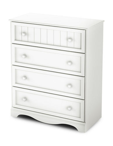 South Shore Savannah Four-Drawer Chest-PURE WHITE-One Size