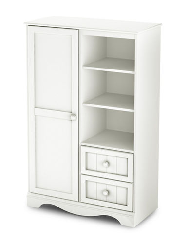 South Shore Savannah Two-Drawer Door Chest-PURE WHITE-One Size