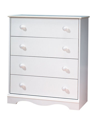 South Shore Angel Four-Drawer Chest-PURE WHITE-One Size