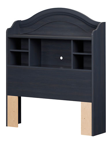 South Shore Summer Breeze Twin Bookcase Headboard-BLUEBERRY-Twin
