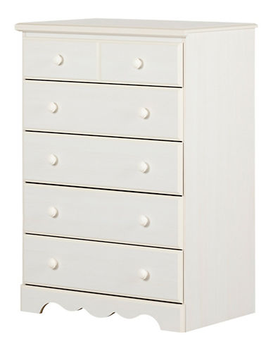 South Shore Five-Drawer Chest-WHITE WASH-One Size