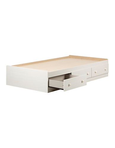 South Shore Summer Breeze Twin Mates Bed with Three Drawers-WHITE WASH-Twin