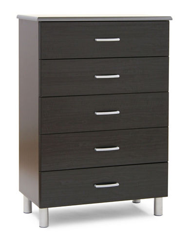 South Shore Cosmos Five-Drawer Chest-BLACK ONYX-One Size