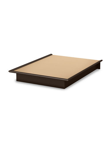 South Shore Step One Full Platform Bed-CHOCOLATE-Full