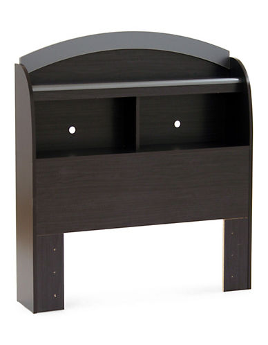 South Shore Cosmos Twin Bookcase Headboard-BLACK ONYX-Twin