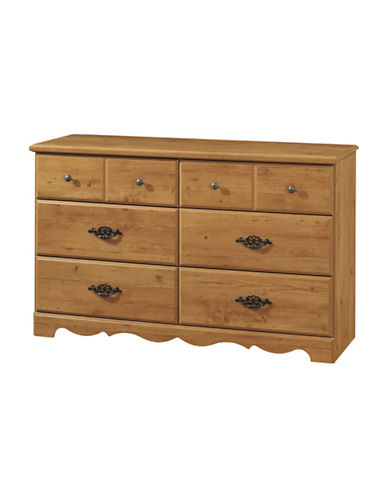 South Shore Prairie Six-Drawer Double Dresser-COUNTRY PINE-One Size