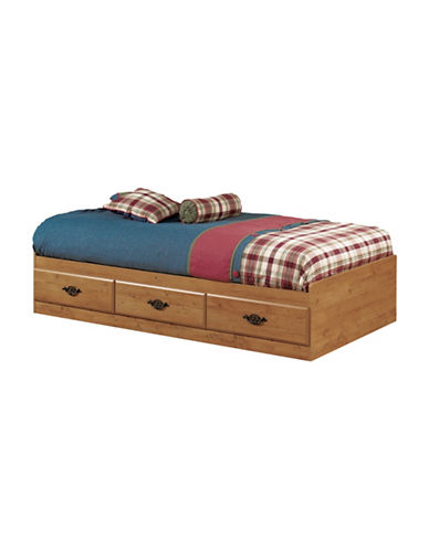 South Shore Prairie Twin Mates Bed with Three Drawers-COUNTRY PINE-Twin