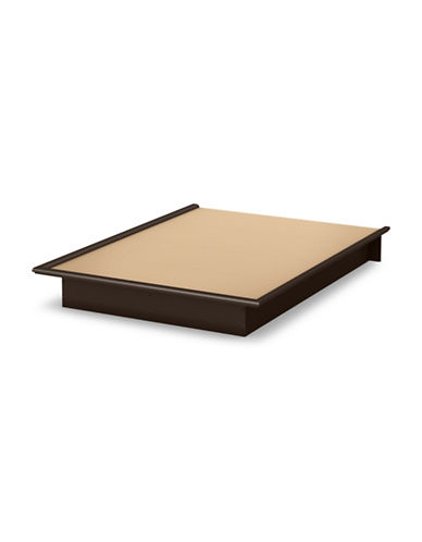 South Shore One 60-Inch Queen Platform Bed-CHOCOLATE-Queen