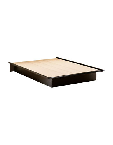 South Shore One 60-Inch Queen Platform Bed-PURE BLACK-Queen