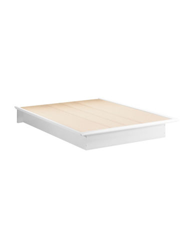 South Shore One 60-Inch Queen Platform Bed-PURE WHITE-Queen