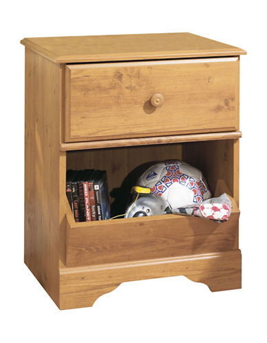 South Shore Little Treasures One-Drawer Nightstand-COUNTRY PINE-One Size