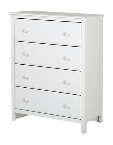 South Shore Cotton Candy Four-Drawer Chest-PURE WHITE-One Size