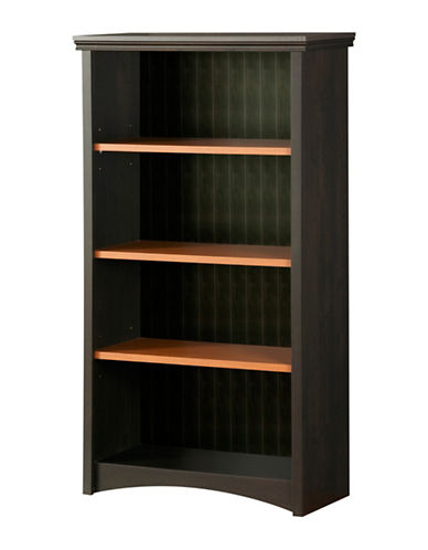 South Shore Gascony Four-Shelf Bookcase-EBONY-One Size