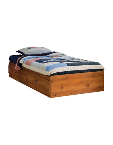 South Shore Logik Twin Mates Bed with Two Drawers-SUNNY PINE-Twin