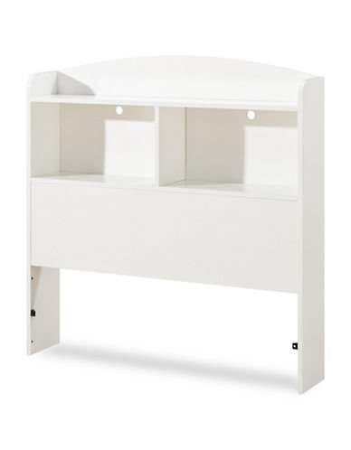 South Shore Logik Twin Bookcase Headboard-PURE WHITE-Twin