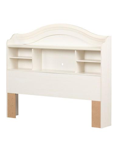 South Shore Summer Breeze Full Bookcase Headboard-WHITE WASH-Full