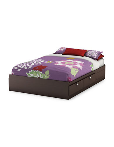 South Shore Spark Full Mates Bed with Four Drawers-CHOCOLATE-Full