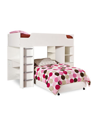South Shore Logik Twin Loft Bed-PURE WHITE-Twin