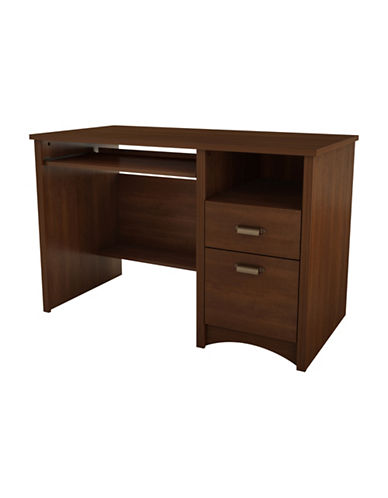 South Shore Gascony Computer Desk with Keyboard Tray-SUMPTUOUS CHERRY-One Size