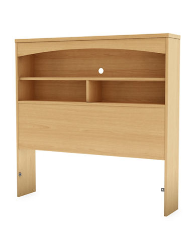 South Shore Step One Twin Bookcase Headboard-NATURAL MAPLE-Twin